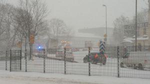 Trafikproblem vid Österleden i Helsingfors.