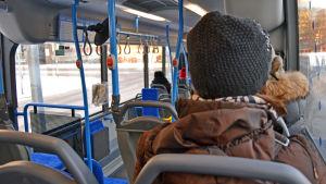 Buss i Helsingfors.