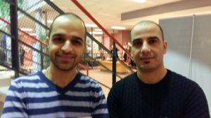 Asylsökande Mohammed Almayahi och Mohammed Nouri tror på en framtid i Finland