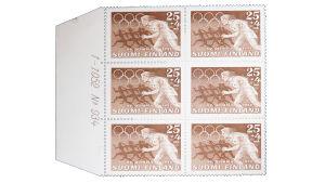 Tapio Wirkkalan suunnittelemia postimerkkejä 1952 Olympialaisiin