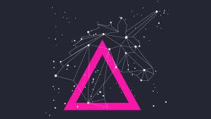 Tähtikuvio joka muodostaa yksisarvisen profiilin, grafiikka