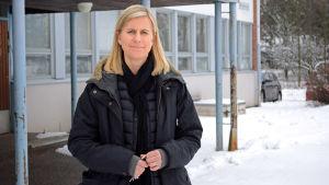 Maria Laurén-Lindholm, rektor för Boställsskolan i Esbo.