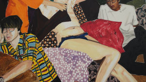 Detalj av målning av Kaarlo Stauffer.