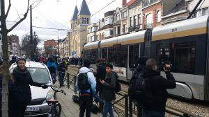 Hållplatsen där mannen skadades precis efter att avspärrningen lyftes