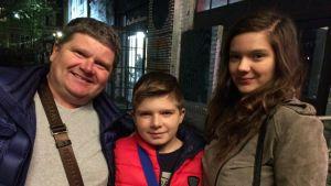 Kebus fans: Arkadiusz, Pawel och Anastasja Devenowsky från Konin, Polen.