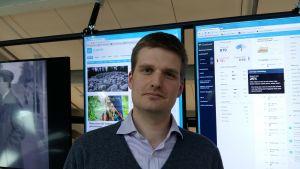 Emil Oljemark är verksamhetsledare för leaderprojektet I samma båt