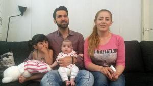 De irakiska flyktingarna Sämä, Huner Ali Mohammed, Klara och Gashaw Khaleel Hamad.