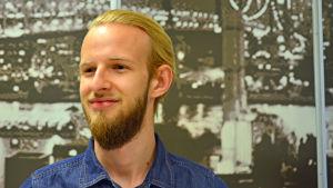 Kaelan Robinson flyttade från Bermuda till Helsingfors för att studera.