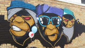 apinat, graffiti, Kerava, purkutaide, projekti, 2016,
