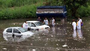 Översvämningar i Indien.