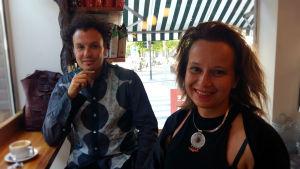 Ivor Stodolsky och Marita Muukkonen, två konstkuratorer.