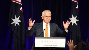 Premiärminister Malcolm Turnbull är segerviss.