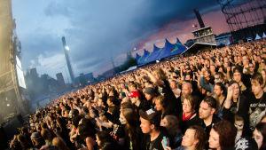 Publiken under Ghost på Tuska 2016