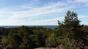 Utsikten från Berghamns kanonställning.