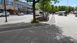 Cykelled på Borgå torg.