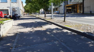 Trottoaren vid Mannerheimgatan i Borgå.