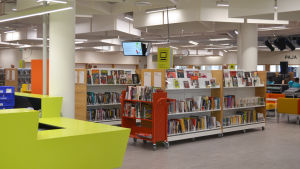 Biblioteket i nya delen av Iso Omena