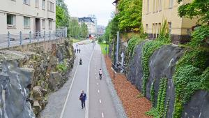 cykelleden Baana i Helsingfors