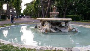 Fontänmiljö i Rom.