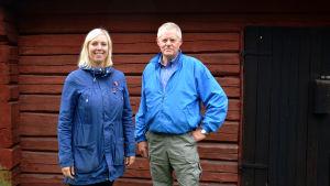 Verksamhetsledare Jenny Holm och ordförande Christer Harv från Brage i Vasa.