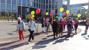 Kvinnobankens evenemang Gå ett yrke till en kvinna.