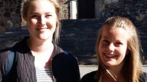 Pernilla Lindroos och Elin Tallqvist studerar i Åbo