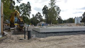 Raseborgs psykiatriska enhet byggs intill sjukhuset i Ekenäs.