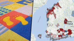 Karta över arbetslösheten bland svenskspråkiga i Finland