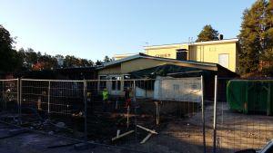 Houtskärs nya hälsostation började byggas i september 2016.