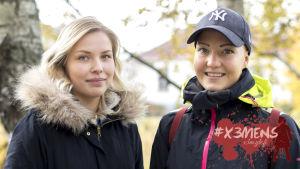 Sofie Törnroos och Klara Kallio.