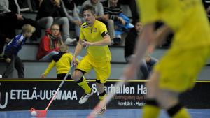 Aki Korkiakoski är lagkapten i FBC Raseborg Knights.