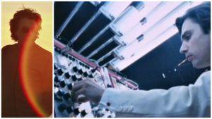 Kaksi kuvaa dokumenttielokuvasta Jean-Michel Jarre: Matka ääniin.