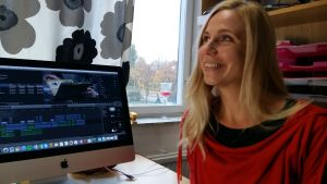 Marina Saanila är i full gång med filmerna för de åboländska museerna