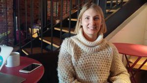 Katariina Pelander är caféchef vid Johan & Nyström