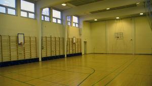 Gymnastiksalen i Katrinaskolan i Karis, Raseborg.