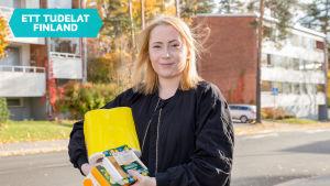 Venla Ahtola lever på en spänd student budget. 18.10.2016.