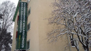 Sagolandsstigen 5 i Kasberget i Helsingfors. Huset genomgår ett stambyte på två veckor.