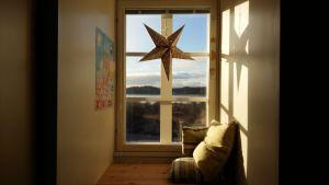 Utsikt från ett fönster i Ispois herrgård