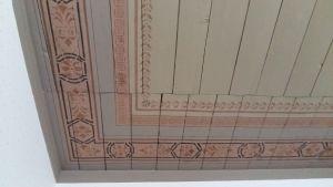 Detalj från gammal takmålning på Ispois herrgård