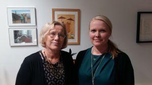 verksamhetsledare Lisbeth Hemgård och Annette Tallberg, sakkunnig intressepolitiskt arbete, båda vid FDUV