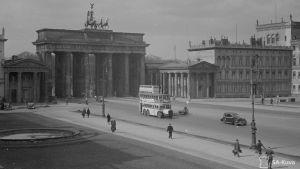 Näköala majuri Parkkosen huoneen ikkunasta hotellista Berliinissä.