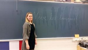Språklärarförbundets ordförande Sanna Karppanen.