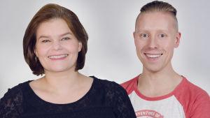 Silja Sahlgren-Fodstad och Niklas Aldén sköter det svenska Oscarsreferatet 2017.
