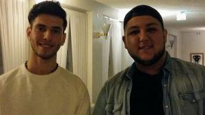 Hamza Aljubory och Ali Alrubaye vill berätta för finländare om situationen i Irak.