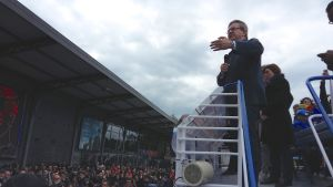 Radikala vänsterns Jean-Luc Mélenchon, presidentkandidat i Frankrike.