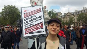 Cécile Rimboud under valkampanjen i Frankrike