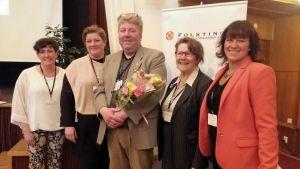 Åländska delegationen med John Andersen i mitten.