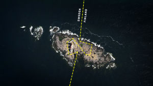 Märket island and the border line between finland and sweden