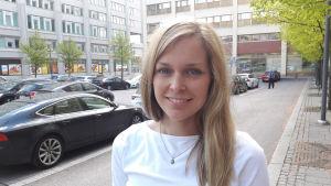 Johanna Nyberg är trafikstyrningschef i Esbo.