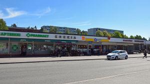 Rönnbacka köpcentrum.